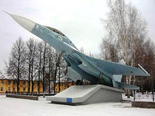 The Su-27 monument in Ufa