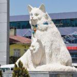 Dutch artist Vincent van Gogh sculpture in Omsk