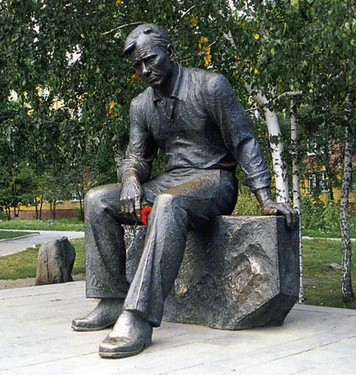 Barnaul, Siberia. Monument to Vasily Shukshin