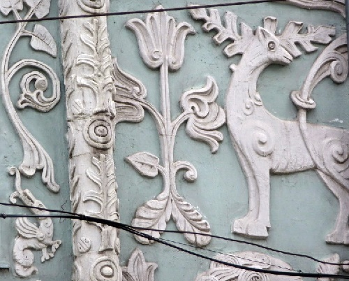 Closeup of bas-relief