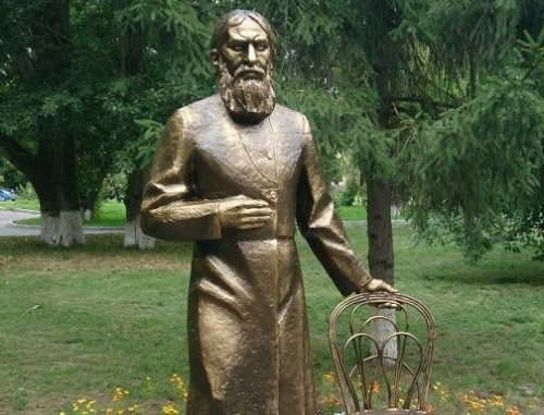 Grigory Rasputin monument in Tyumen
