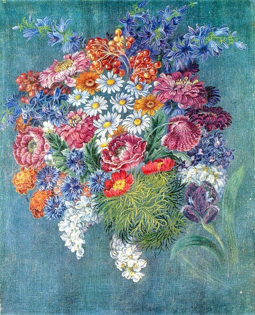 Horticultural flowers. Oil. 1952