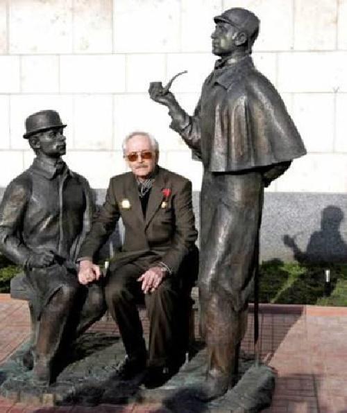 In the center - Vasily Livanov, who played Sherlock Holmes