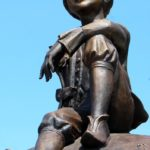 Saint-Exupery Little Prince monument in Abakan