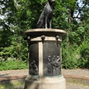 Pavlov's dogs monument. St. Petersburg