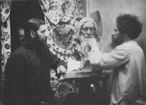 Photo of 1915. Grigory Rasputin in the workshop of Aronson