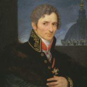 Portrait of Andrey Voronikhin. Engraving by V. A. Bobrov