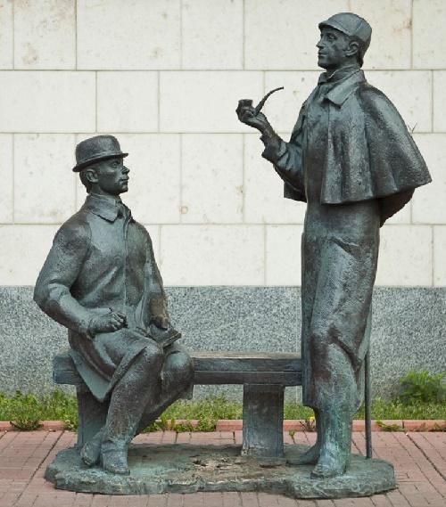 Sherlock Holmes and Dr. John Watson monument