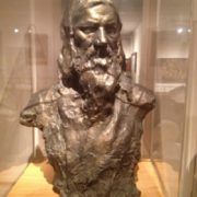 The Tel Aviv Museum of Fine Arts, bronze bust of Rasputin. Work by Aronson 1914-1915