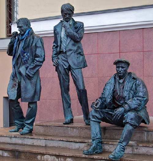 VGIK trinity - students of All-Russia Institute of cinematography Tarkovsky, Shukshin and Shpalikov