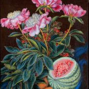 Watermelon, carrots, flowers. Oil 1951