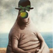 Inspired by 'The Son of Man' by Rene Magritte