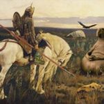 Ivan Tsarevich and Gray Wolf monuments