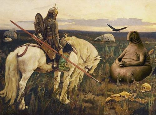 Knight at the Crossroads by Vasnetsov