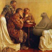 On the painting 'Visitors to Lenin' by Vladimir Serov