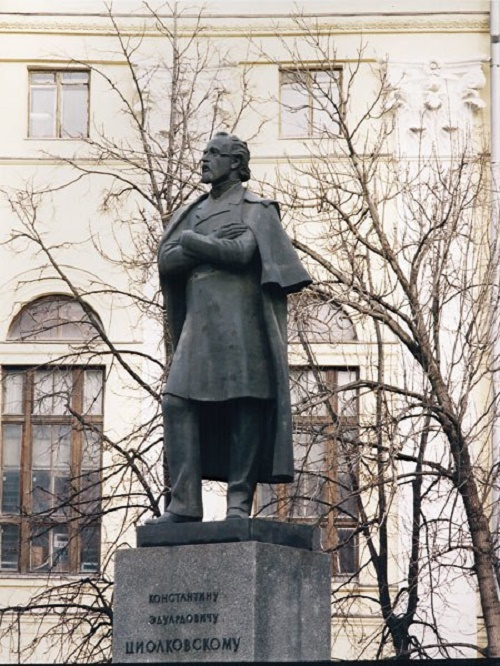 Ryazan, monument to Tsiolkovsky