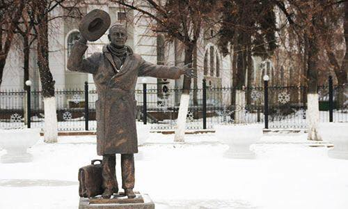 The view of the monument in winter. Samara