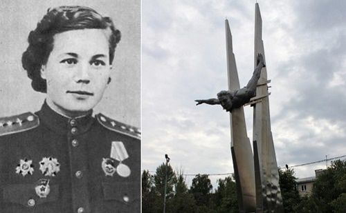 Monument to brave female pilot Olga Sanfirova