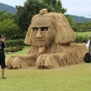 Rice straw sculpture