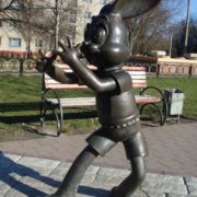 Character of Soviet cartoon, hare monument
