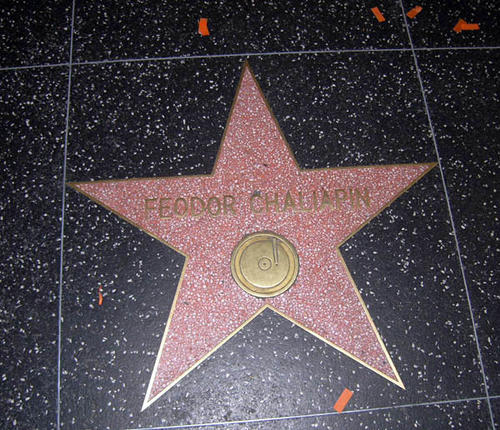 Hollywood walk of fame, star of Chaliapin