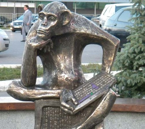 Internet user monument in Samara