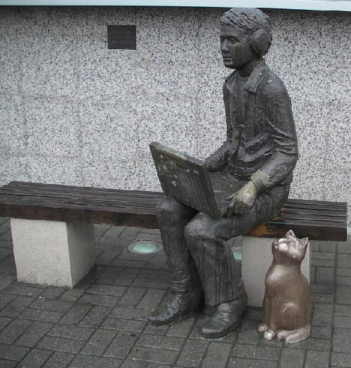 Kaliningrad. Monument to Internet user with a laptop