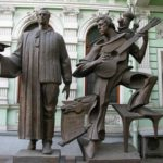 Poet Joseph Brodsky monument in Moscow