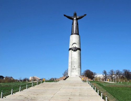 The monument on the hill