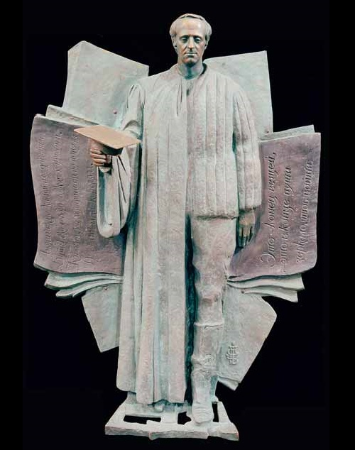 This is how sculptor Zurab Tsereteli sees Joseph Brodsky. Farewell, Joseph Brodsky. Bas-relief