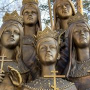 Bronze monument to the children of Russian Tsar Nicholas II. Sculptor Igor Akimov. Installed November 16, 2011