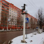Dmitrov, Moscow region, monument to bicycle