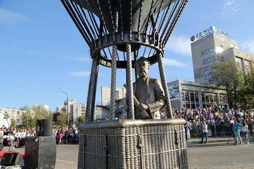 Monument to the French science fiction writer Jules Verne. Nizhny Novgorod