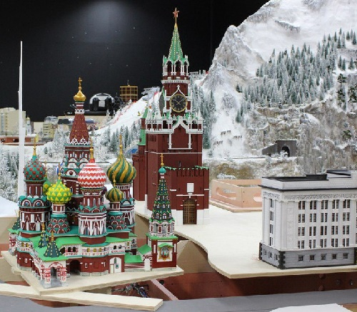 Moscow corner represents St. Basil's Cathedral and the Kremlin