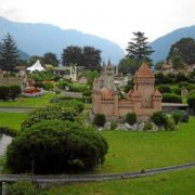 Picturesque miniature park in Switzerland