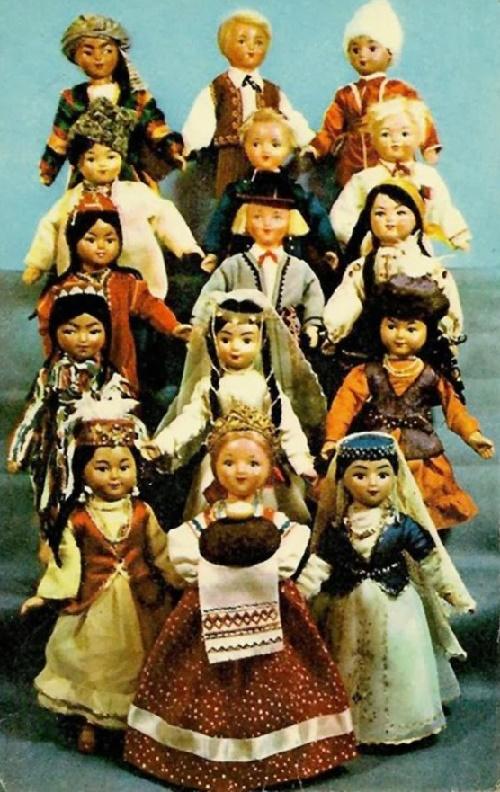 Soviet republics. Dolls in national costumes