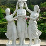 Three graces, the garden of Venus on the island of Vedo (Korea)
