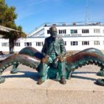 French science fiction writer Jules Verne monument