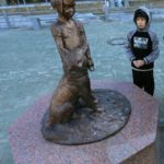 Miraculous Story behind Girl With Dog Monument