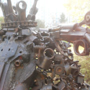 It is interesting to examine what each sculpture is made of - bolts, nuts, bushings, etc., etc.