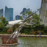 Beautiful gragonfly decorates the lake bearing its name - Lake Dragonfly