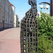 Established in 2005 in Tomsk, a monument to the future mother. Sculptor - Nikolay Gnedykh