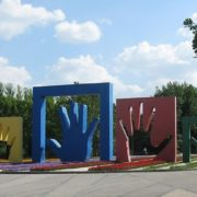 My family, monument in Moscow