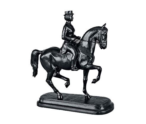 Rider E.V. Petushkova. Work by Kasli sculptor, a member of the Union of Artists A.V. Chirkin. 1974