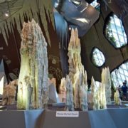 Science and art museum. Monument in the form of stalactites
