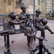 Sculptural composition devoted to mother