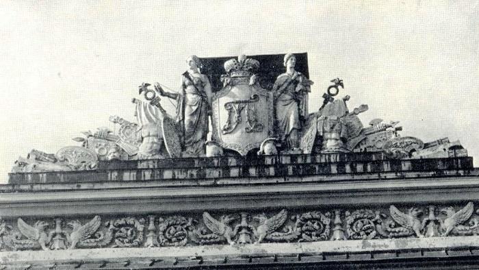 Sculptural group of the garden facade of the former Mikhailovsky Palace. 1825