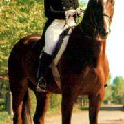 Soviet equstrian Elena Petushkova and horse Pepel
