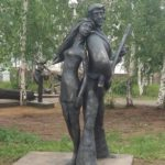 Singing Bremen town musicians monument