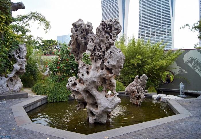 Unique stone sculptures in Singapore